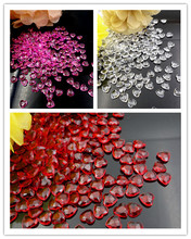 1000Pcs Acrylic Crystal Heart Confetti Scatter For wedding Valentine Decoration