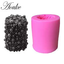 Aouke 1PCS New Shape Food Grade Silicone Soap, Chocolate, Cake Silicone Cake Molds, Fondant Cake Decorate X101(China)