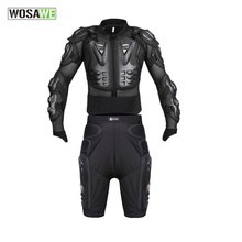 WOSAWE motocross body Armor protection set motorcycle jackest Motocross pants Protector Chest Back Protector protective Gear set(China)