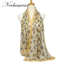 New Fashion Animals Owl women Scarf Animal Scarf Small Owl Scarves in Beige  Loop Scarf   Shawls 160*50cm free shippjng