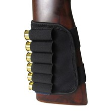 ELUANSHI Hunting Pouches Gun Accessories Buttstock 12 Gauge Shotgun Ammo Cartridges Holder Elastic for Hunting Shooting