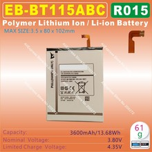 [EB-BT115ABC] 3.8V 3600mAh Li - Polymer lithium ion Mobile / TABLET PC battery for SAMSUNG Galaxy SM-T110 SM-T111 SM-T115 [R015]
