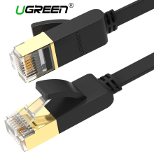 Ugreen Cat7 Ethernet Cable RJ45 Cat 7 Flat Network Lan Cable rj45 Patch Cord 1M/5M/10M/20M for PC Router Laptop Cable Ethernet(China)