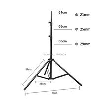 Photographic equipment Pro Photo Studio 6.9ft 210cm 2.1m Strong light stand with 1/4 screw head LS-210(China)