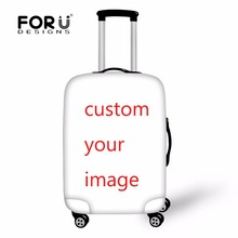 FORUDESIGNS Custom Luggage Protective Cover to 18-28 Travel Suitcase,Custom Dust Cover Elastic Waterproof Accessories Covers(China)