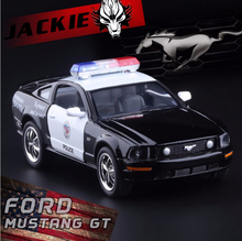 Brand New 1:38 Ford 2006 Mustang GT Police Alloy Diecast Model Car Toy Collection As Gift For Boy Children Toys Free Shipping