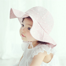 Kids Girls Princess Sun Hats Summer Hats Visor Cotton Sun Cap Floral Prints Beach Bucket Hats Children Beach Headwear(China)