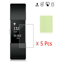 2016 Luxury 5PC HD Clear TPU Screen Protector Film For Fitbit Charge 2 Smart Wristband Bracelet Ultra thin Anti-explosion Glass(China)