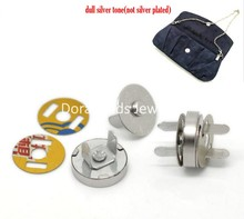 "Doreen Box Lovely 20 Sets Silver Tone Magnetic Purse Snap Clasps/ Closure for Purse Handbag 14mm(4/8"") Dia. (B20766)(China)"