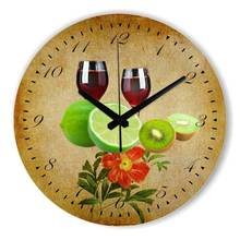 Modern Design Kitchen Wall Clock With Waterproof Clock Face The Fruits Wall Decoration Watch For Living Room Home Decor Gift