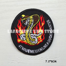 3pcs Customized Snake Logo DIY Patch for Clothing Jacket Bag punk Motorcycle HAT Applique Garment Iron Sew on patch Vest sticker