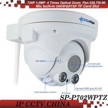 SunEyes SP-P702WPTZ ONVIF Wireless PTZ Dome IP Camera 720P HD with Pan/Tilt/Zoom Micro SD/TF Card Slot Array IR LED