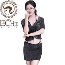 Buy Leechee Q714 Women sexy lingerie Cosplay assistant Manager Uniform Babydoll Sex Vest+skirt Erotic underwear porn costumes
