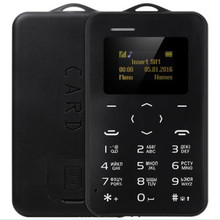 Original AIEK C6 Ultra Slim 1.0 inch Russian Keyboard Card Phone GSM Bluetooth 2.0 Calendar Alarm Calculator 320mAh Cell Phone