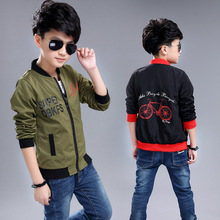 Children's Clothing Boys Bomber Casual Jacket Kids Teenager Garment Sport Wear Bike Design Brand New Teenager Coat