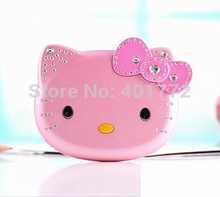 2 battery K688 Cute Mini Hello Kitty Girl Phone Quad Band Flip Cartoon Mobile Phone Unlocked Kids Children Cell Phone H-mobile(China)