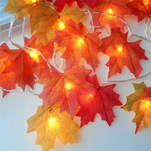 Hot Sale 3M 30 PCS LED Maple Leaf Battery Box Light String For Home Garden Decor Beautiful Christmas Lamp Lights Drop Shipping