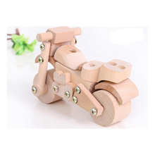 TONKA Disassembly Assemble Motorcycle Wooden Toy Child Model Car Educational Toys