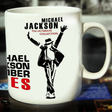 New Michael Jackson Ceramic Coffee Mug White Color Or Color Changed Cup Number Ones---Loveful