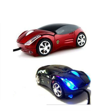 Brand New 3D Optical USB Wired Mouse Mice 1600DPI Car Shape for PC Laptop Notebook Computer Black car-styling Mouse