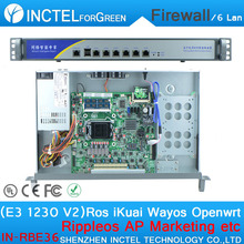 ROS 6 Gigabit flow control ITX firewall server with E3 1230 V2 cpu 1000M 6 82574L 2 groups Bypass model number IN-RBE36(China)