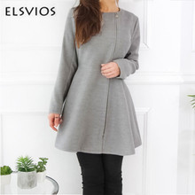 ELSVIOS Winter Autumn Zippper Sweet Mini Dress Long Sleeve Vestido De Festa Women Spring Dress Robe Dresses A-Line cute dresses(China)