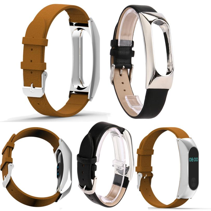 HIPERDEAL Replacement Wristband Band Strap + Metal Case Xiaomi Mi Band 2 Bracelet