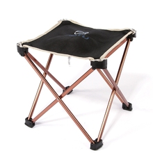 Outdoor Foldable Folding Fishing Chair Picnic BBQ Garden Chair Tool Square Camping Stool 7075 Aluminium Alloy Fishing Stool