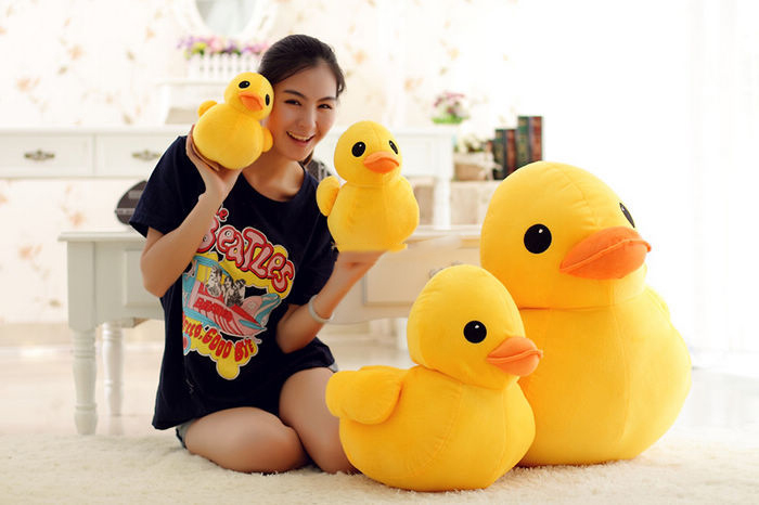 new style giant plush stuffed Kids toys lovely Rubber Duck 39'' 100cm yellow rubber Duck+free shipping(China)