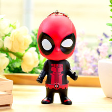 10cm Mini Q Deadpool Car keychain Hot toys 2016 New  X-men figurine Wade Wilson Performing props Doll ornaments  party decor