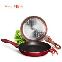 Hight Quality Aluminum alloy nonstick frying pan skillet smokeless ceramic coating pan pots cooking tools(China)