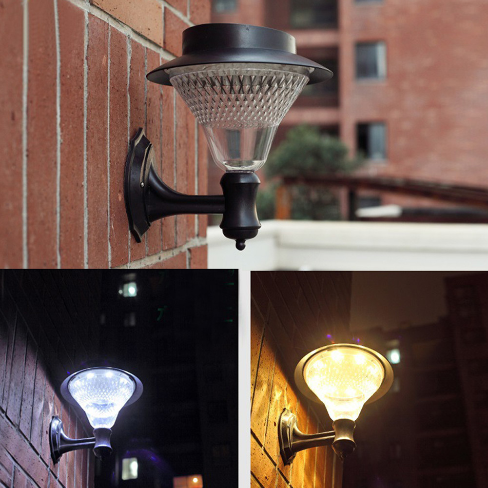 16LEDs Outdoor Solar Power Yard Wall Fence Lawn Garden Landscape Lamp Waterproof Garden Landscape Yard Lawn Security Wall Lamp