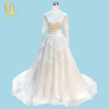 Rhine Real Sample Image Rhine Weeding Gown Long Sleeves Sexy See Throuh Lace Zuhair Murad Wedding Gown wedding dresses 2017