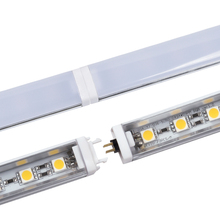 2pcs LED Bar Light Seamless Connecting Rigid LED Strip 5050 LED Kitchen Light Under Cabinet Closet Sink 12V 50cm/36leds+PC Cover
