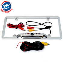 High Quality 170 Angle HD 8 IR Night Vision Car Rear View Backup Camera For US License Plate Frame Car Camera(China)