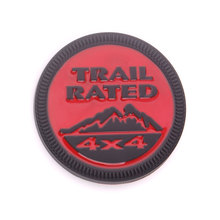 BBQ@FUKA Black Red Trail Rated 4x4 Round Emblem Badge Styling Sticker Fit for Dodge Challenger Jeep Cherokee Wrangler
