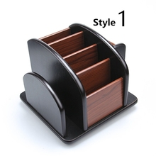 High Quality Dest Set Wooden Office Supply High Quality Office Desk Accessories Wooden Office Organizer 8 Style to Choose