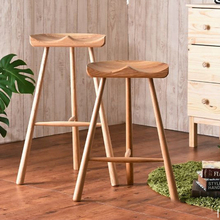 Hot Fashion stool,100% Wooden bar stool,The Nordic style of nature,Wooden furniture, handmade stool 65cm/75cm bar chair(China)
