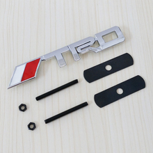 OTOKIT 3D TRD Logo Sticker Metal Emblem Badge Cool Car Styling for Toyota Racing Car Front Grille Car Tuning Mount JDM Decal