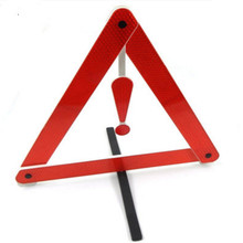 Safety Traffic Signs On-board Tripod  Warning Triangle Mark Warning Sign With Reflect Light