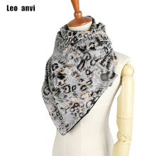 leo anvi brand designer fashion leather Leopard Print shawls and scarves buckles winter ring scarf women bandanda pattern scarf
