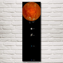 Space Solar System Planet Sun Mercury Venus Art Silk Poster Prints Home Wall Decor Painting 12x39 16x52 Inches Free Shipping