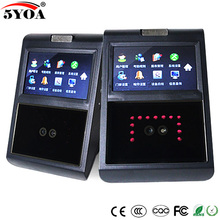Face Facial TCP IP Attendance Access Control Biometric Time Clock Recorder Employee Digital Electronic Recognition Reader 5YAF5
