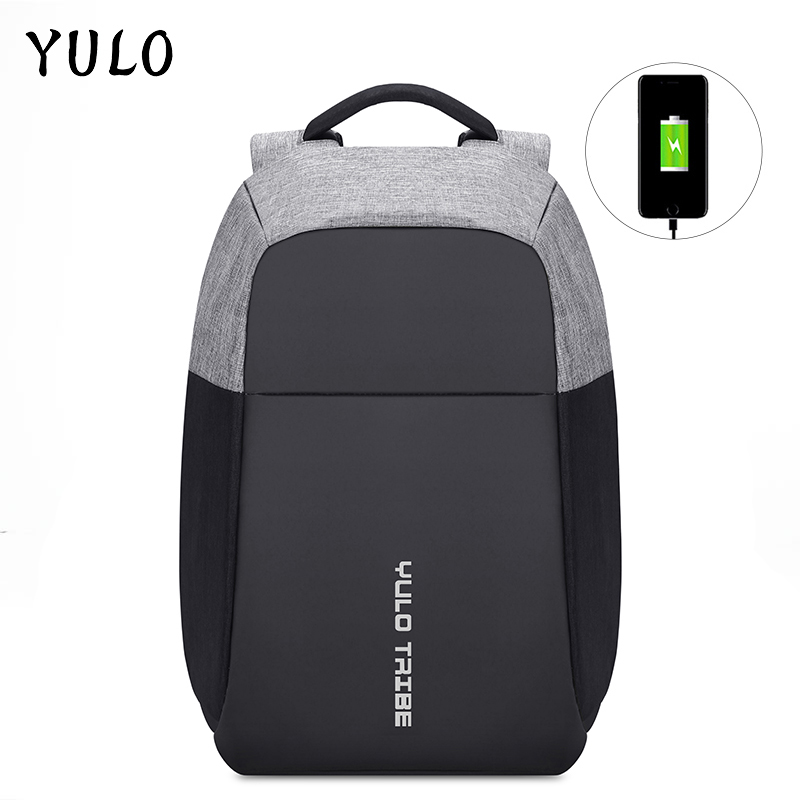 YULO Men Laptop Backpacks Patchwork Backpack Anti theft Multifunction USB Charging Mochila Men Waterproof Travel Backpack Zaino<br>