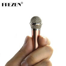 FREZEN MINI Jack 3.5mm Studio Lavalier Professional Microphone Handheld Mic for Mobile Phone Computer for iPhone ipad karaoke