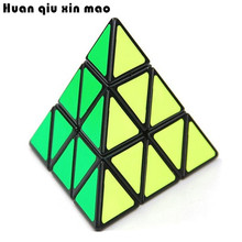 Pyramid Magic Cube Pyraminx Speed Puzzles Magic Cube Game Triangle Shape Cubos Magicos Puzzle Learning Educational Toy