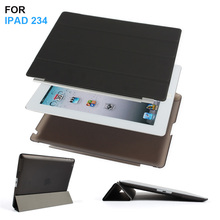 Batianda Ultra Thin PU Leather Slim Magnetic Folding Front Smart Cover Skin + Hard PC Shell Back Case For ipad 2 3 4 ipad3 ipad4