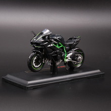 New 1/18 2016 Kawasaki H2R Black Motorcylce Diecast Model w/Removable Base Kids Gift Collection Gifts Free Shipping