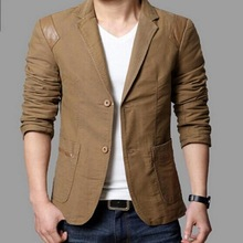 VXO Mens Brand Blazer men's clothing Casual Slim Fit Blazer Leather Patchwork Plus Size Suits Jacket Men Outwear