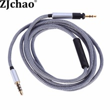 Nylon Replacement Headphone Extension 3.5mm Male Jack to 2.5mm Male Jack Cable Mic For Audio Technica ATH-M50x ATH-M40x